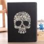"""Чехол для Samsung Galaxy Note 10.1 N8000 тематика """"Череп"""" кожаный черный"""