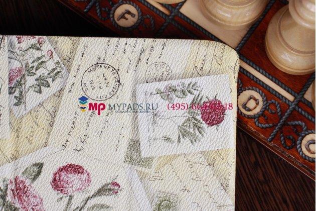 "Чехол для Samsung Galaxy Note 10.1 N8000 ""тематика почтовые конверты"" желтый"
