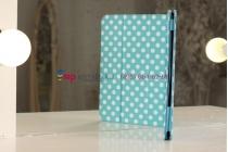 Чехол-обложка для Samsung Galaxy Note 10.1 N8000 бело-голубой далматинец