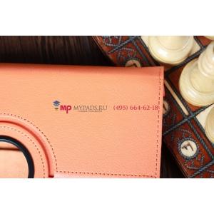 Чехол для Samsung Galaxy Note 10.1 N8000 оранжевый кожаный