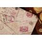 """Чехол для Samsung Galaxy Note 10.1 N8000 """"тематика почтовые конверты"""" серый"""