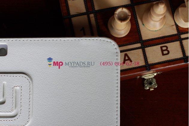 Чехол для Samsung Galaxy Note 10.1 N8000 белый кожаный