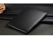 Чехол открытого типа без рамки вокруг экрана с мульти-подставкой для Samsung Galaxy Note 10.1 N8000 черный кож..