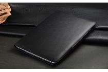 """Чехол открытого типа без рамки вокруг экрана с мульти-подставкой для Samsung Galaxy Note 10.1 N8000 черный кожаный """"Deluxe"""""""