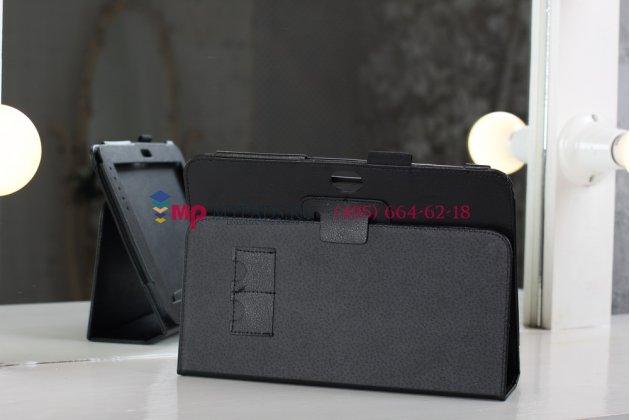 Чехол для Samsung Galaxy Note 10.1 N8000 черный кожаный