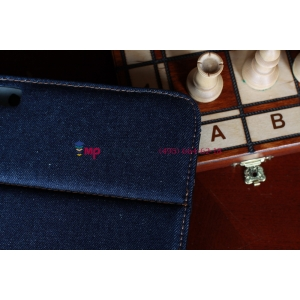 Чехол-сумка для Samsung Galaxy Note 10.1 N8000 джинсовый с кожей