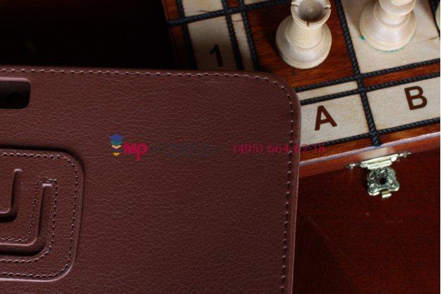 Чехол для Samsung Galaxy Note 10.1 N8000 коричневый кожаный