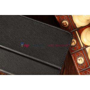Фирменный чехол для Samsung Galaxy Tab 2 7.0 P3100 черный кожаный