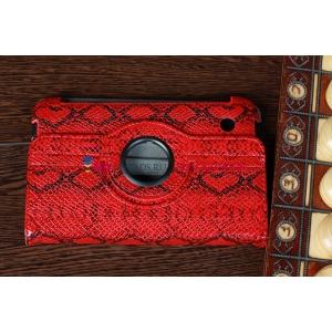 """Чехол для Samsung Galaxy Tab 2 7.0 P3100 """"змеиная кожа"""" красный"""