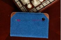 Чехол для Samsung Galaxy Tab 2 7.0 P3100 джинсовый с кожей