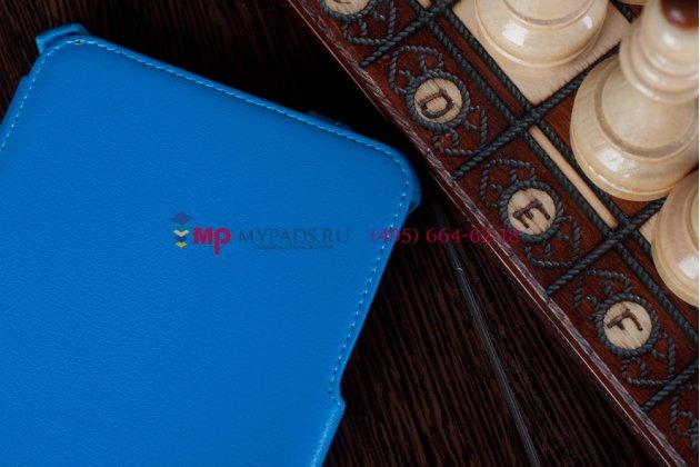 Чехол для Samsung Galaxy Tab 7.0 P6200 синий кожаный