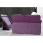 Чехол для Samsung Galaxy Tab 2 10.1 P5100 фиолетовый кожаный