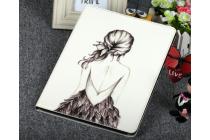 Чехол для Samsung Galaxy Tab 2 10.1 P5100 черно-белая девушка