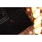 Лаковая блестящая кожа под крокодила фирменный чехол для Samsung Galaxy Tab 2 10.1 брутальный черный