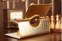 Эксклюзивный чехол для Samsung Galaxy Tab 2 10.1 кожа крокодила золотой. Только в нашем магазине. Количество ограничено