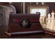 Чехол для Samsung 7.0 P6200 поворотный коричневый кожаный..