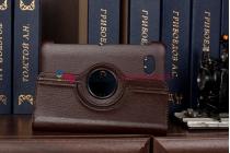 Чехол для Samsung 7.0 P6200 поворотный коричневый кожаный