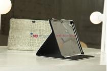 Чехол для Samsung 8.9 P7320 LTE кожа крокодила серый