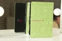Чехол для Samsung 8.9 P7320 LTE кожа крокодила зеленый