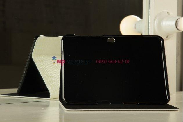 Чехол для Samsung Galaxy Tab 8.9 P7320 LTE кожа крокодила белый