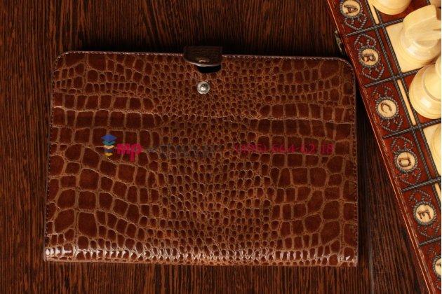 Чехол для Samsung Galaxy Tab 8.9 P7300/P7310/P7320 LTE кожа крокодила коричневый