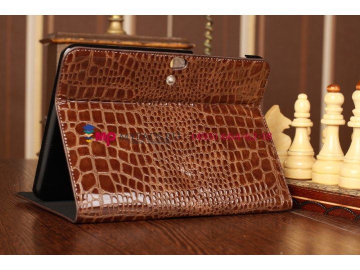 Чехол для Samsung Galaxy Tab 8.9 P7300/P7310/P7320 LTE кожа крокодила коричневый..
