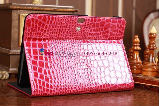 Чехол для Samsung Galaxy Tab 8.9 P7300/P7320 LTE кожа крокодила малиновый