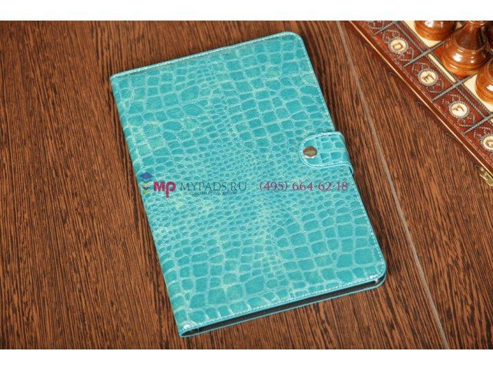 Чехол для Samsung Galaxy Tab 8.9 P7320 LTE кожа крокодила синий..