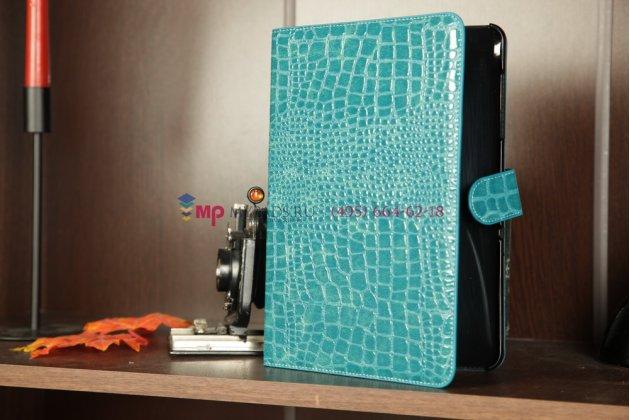 Чехол для Samsung Galaxy Tab 8.9 P7320 LTE кожа крокодила синий