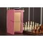 Чехол для Samsung 10.1 P7500 розовый кожаный..