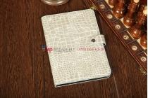 Чехол для Samsung 8.9 P7300 кожа крокодила серый
