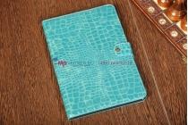 Чехол для Samsung 8.9 P7300 кожа крокодила синий