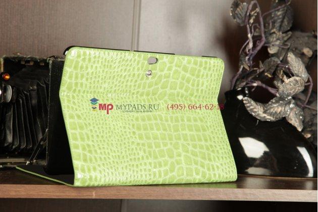 Чехол для Samsung 8.9 P7300/P7320 кожа крокодила зеленый