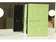 Чехол для Samsung 8.9 P7300/P7320 кожа крокодила зеленый..