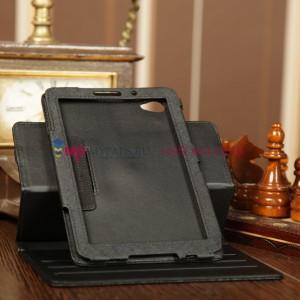 Чехол для Samsung 7.7 P6800 поворотный черный кожаный