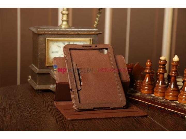 Чехол для Samsung 7.7 P6800 поворотный коричневый кожаный..