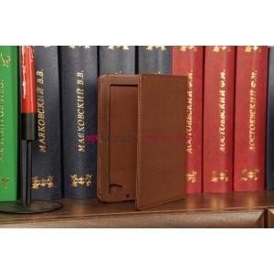 Чехол для Samsung 7.7 P6800 поворотный коричневый кожаный