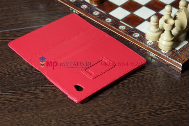 Чехол для Samsung 7.0 P6200 красный кожаный