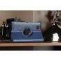 Чехол для Samsung 7.0 P6200 поворотный синий кожаный..