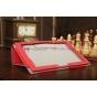 """Чехол-обложка для Sony Xperia Tablet Z с визитницей и держателем для руки красный кожаный """"Prestige"""" Италия"""