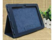 Чехол-обложка для Sony Xperia Tablet Z с визитницей и держателем для руки синий кожаный