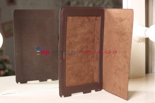 Чехол-обложка для Sony Xperia Tablet Z SLIM коричневый полиуретановый