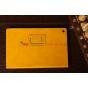 Чехол-обложка для Sony Xperia Tablet Z желтый кожаный..