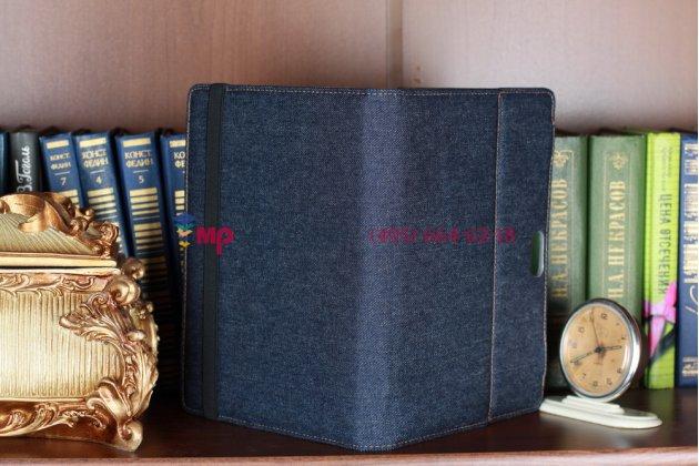 Чехол для Sony Xperia Tablet S джинсовый с кожей