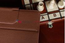 Чехол для Sony Xperia Tablet S коричневый кожаный